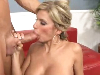 The hot blonde milf craves a big cock
