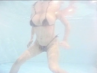 Big tits japanese milf in pool while boyfriend wanking his dong
