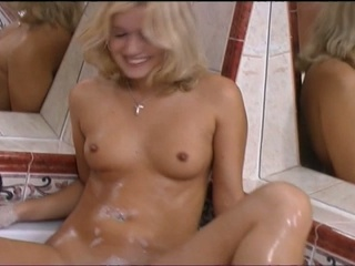 Blonde in a steamy jacuzzi fuck scene