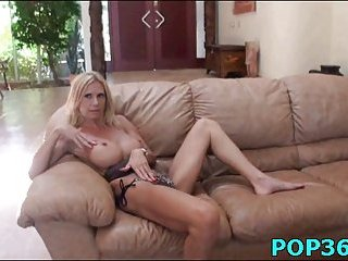 Tattooed golden-haired gets pussy rammed