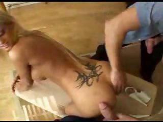 Spit roasting a big titty blonde babe