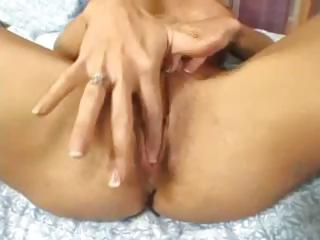 Mature brunette, Deauxma, plays with her big milk shakes and pussy then she gets screwed